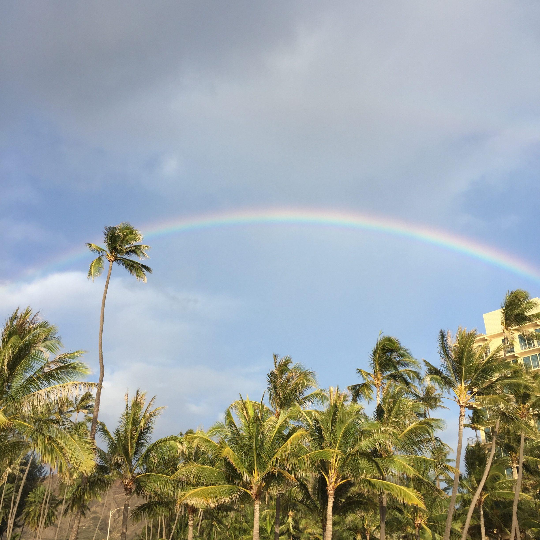 気持ちを切り替えたい時に思い出す、ハワイの虹の話。