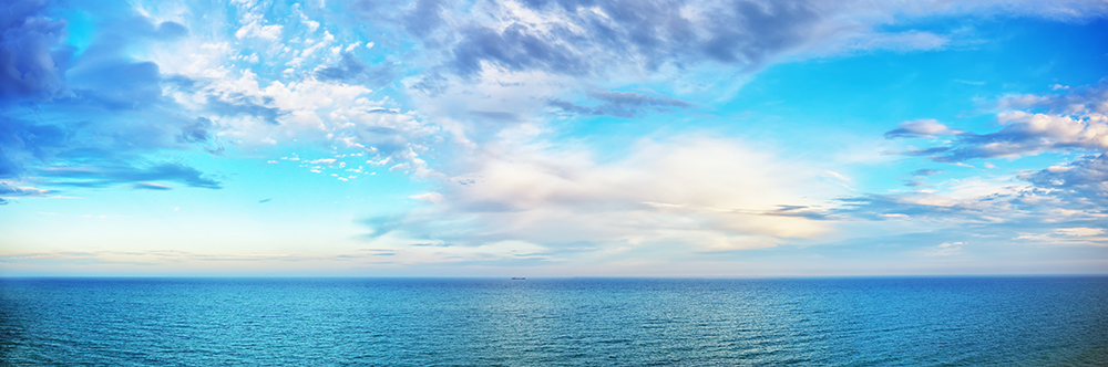 beautiful seascape panorama. Composition of nature